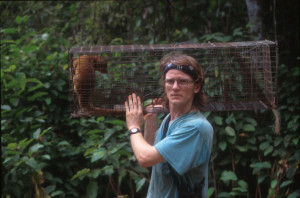 With young kinkajou in 1996